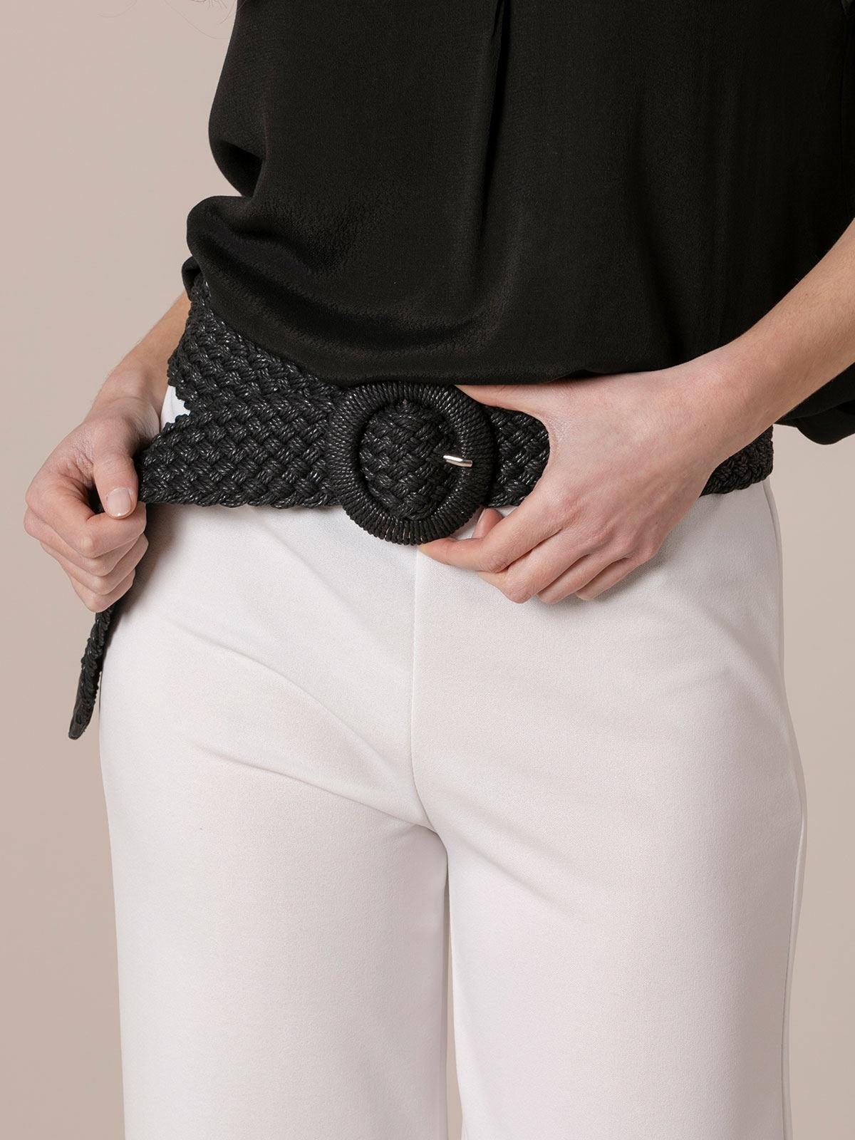 Cinturón mujer trenzado Negro