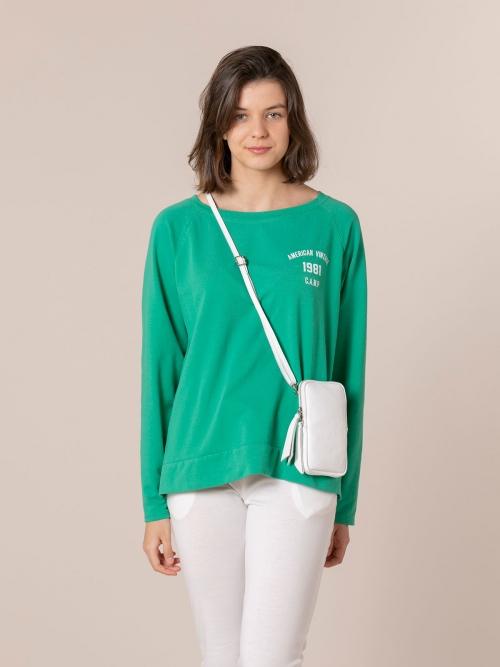 Woman Walk leather bag White