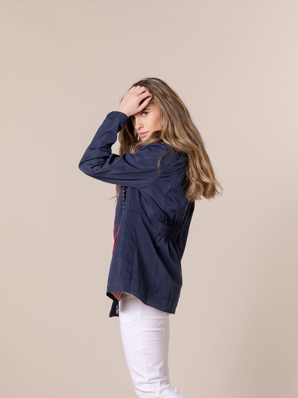 Woman Hooded parka Blue Navy