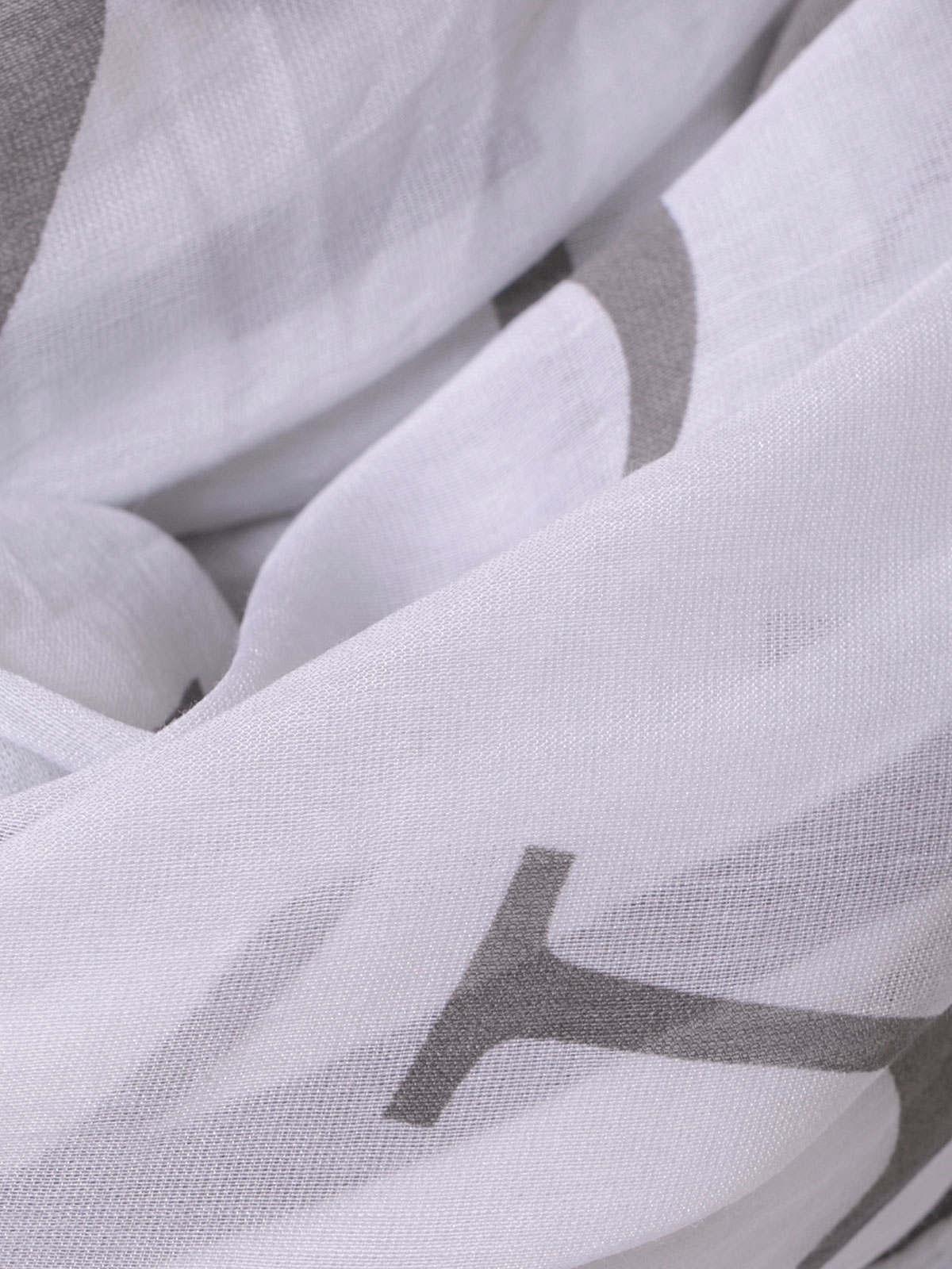 Fular mujer estampado letras Blanco