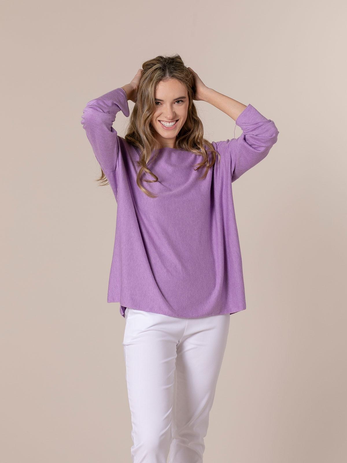 Woman Light knit T-shirt Lila