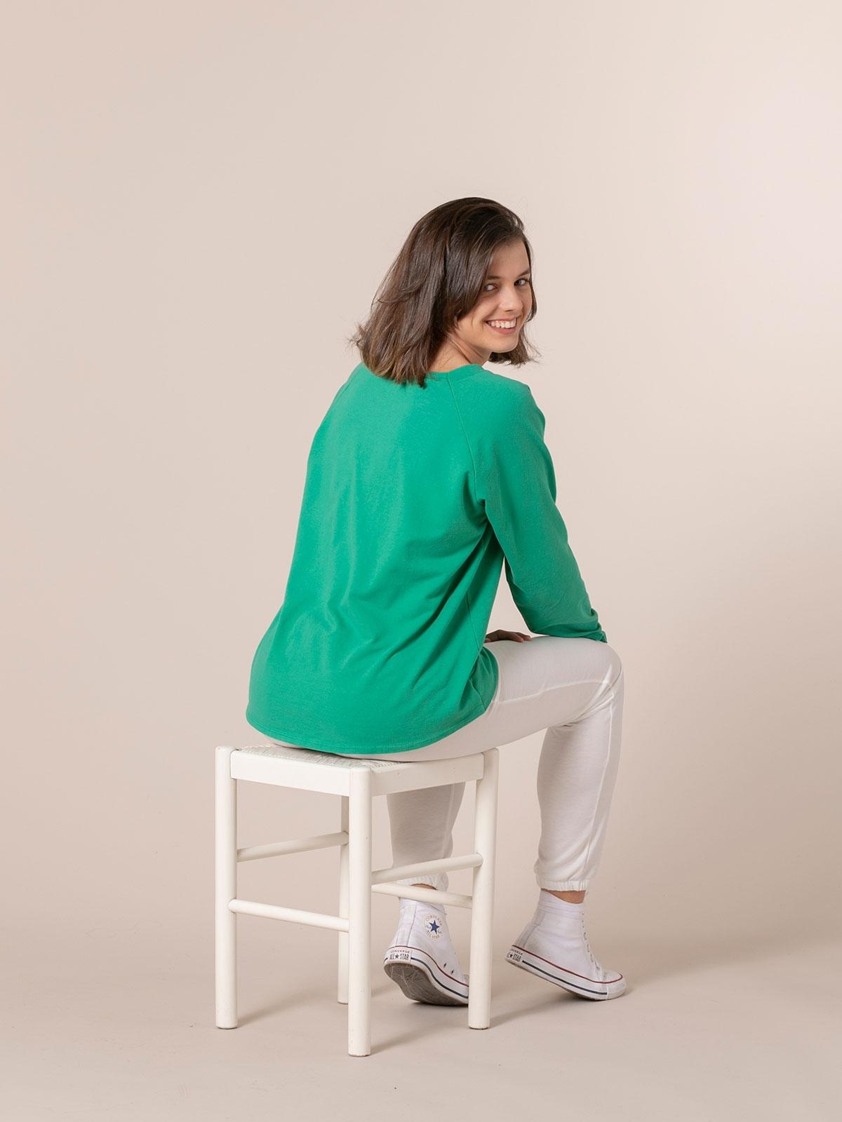 Woman 1981 vintage plain sweatshirt Green
