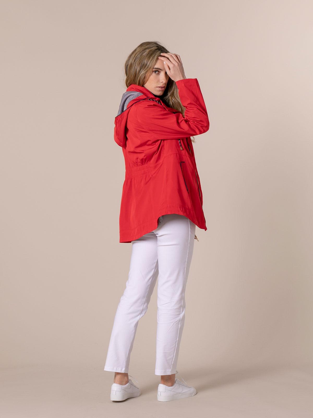 Parka mujer con capucha Rojo