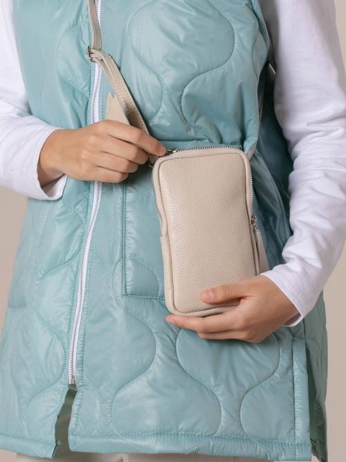 Woman Walk leather bag Beige Claro