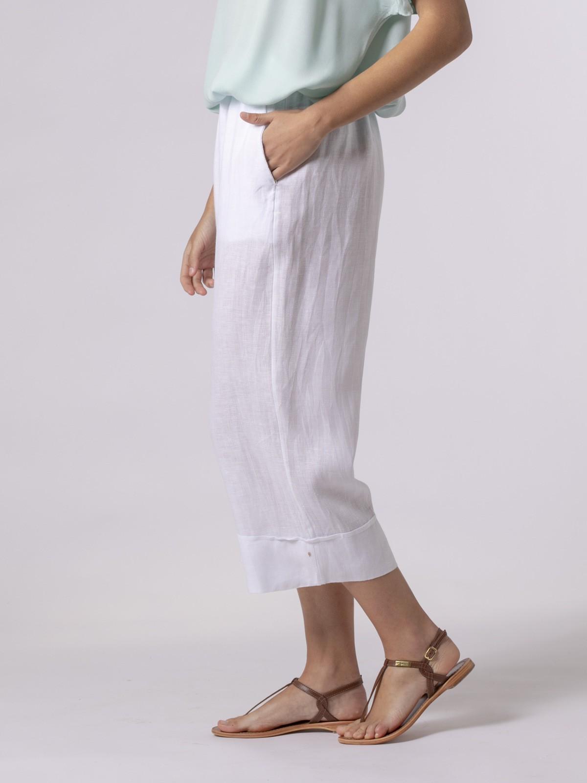 Woman Woman 100% linen pant White