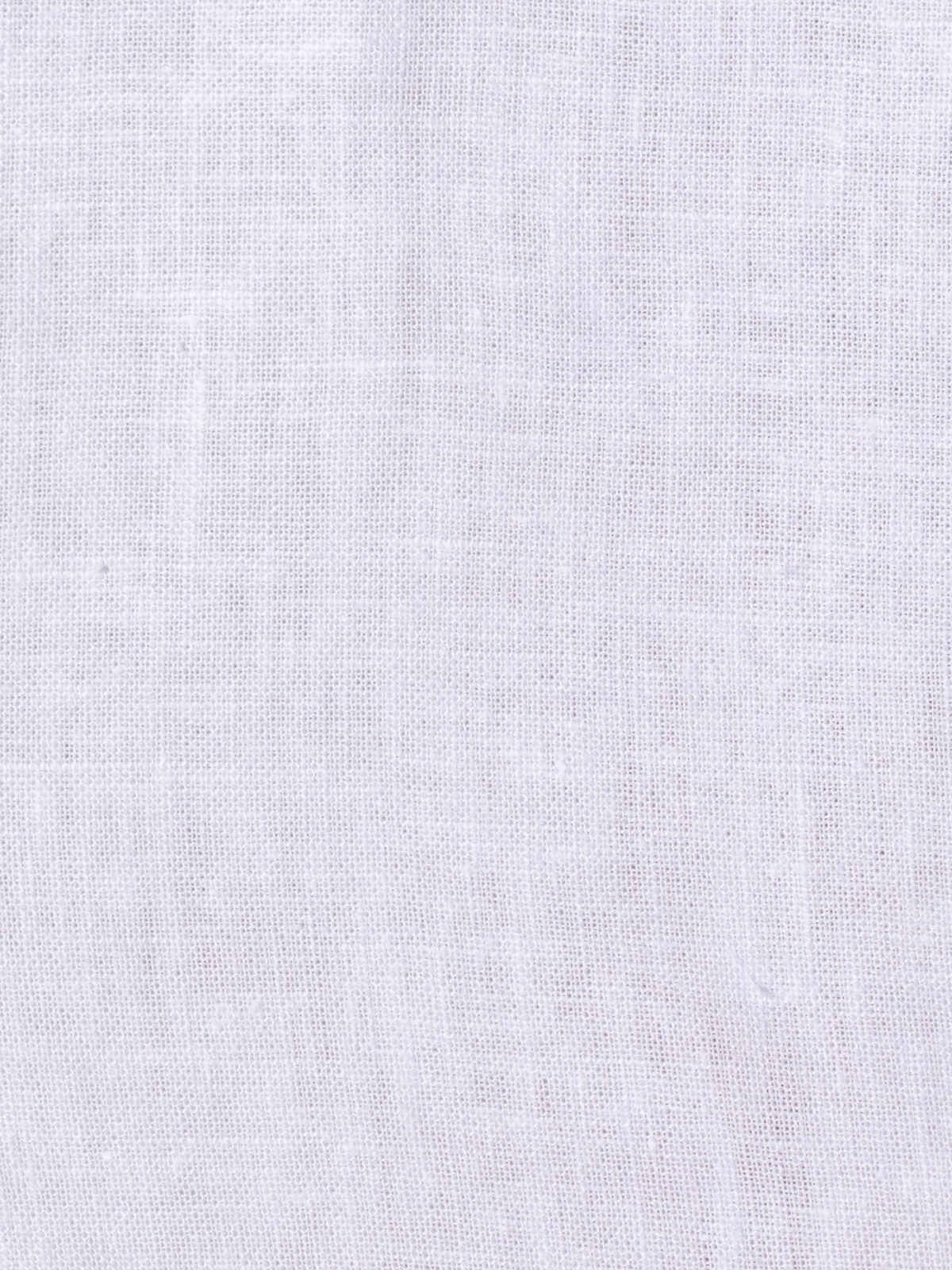 Woman Woman oversize linen V-neck shirt White