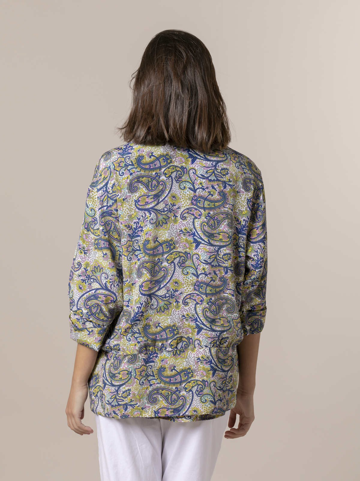 Woman Woman  Flowy printed jacket Bluees