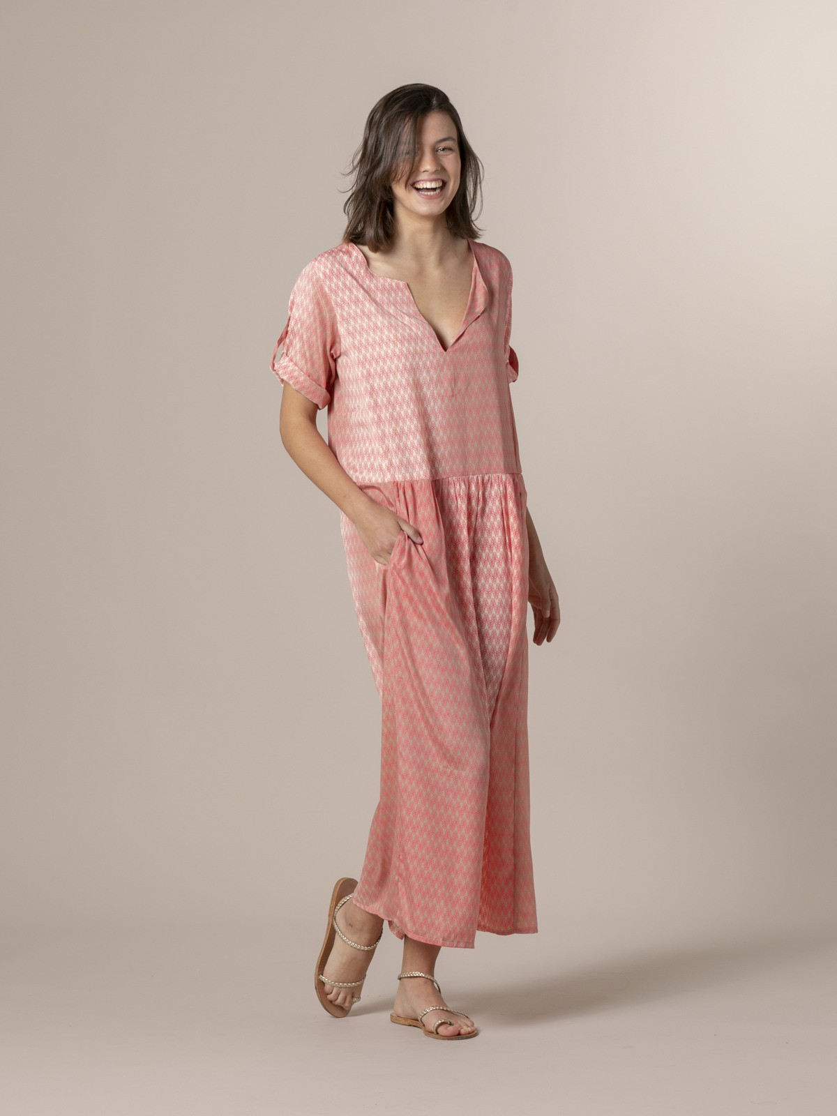 Woman Woman Long flowing dress Pinks