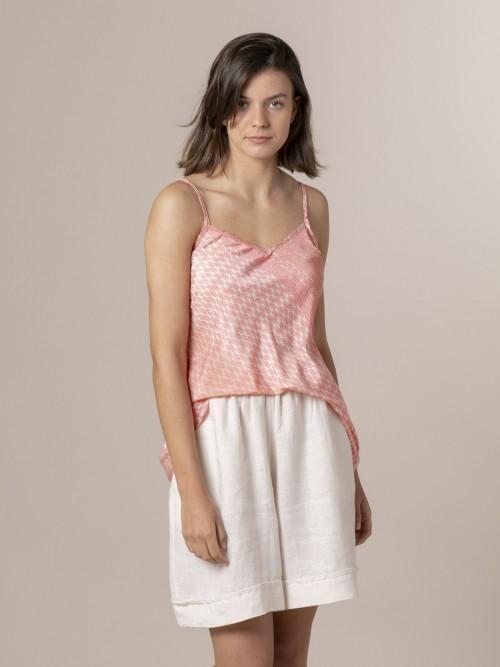 Woman Woman Strappy print top Pinks