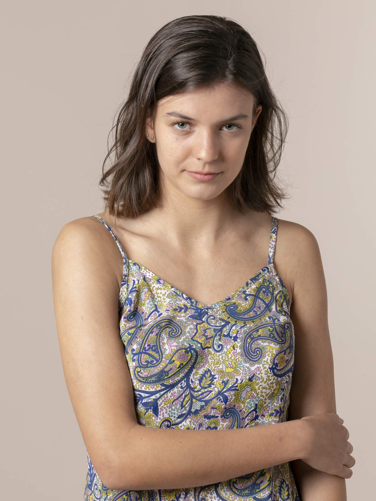 Woman Woman Strappy print top Bluees
