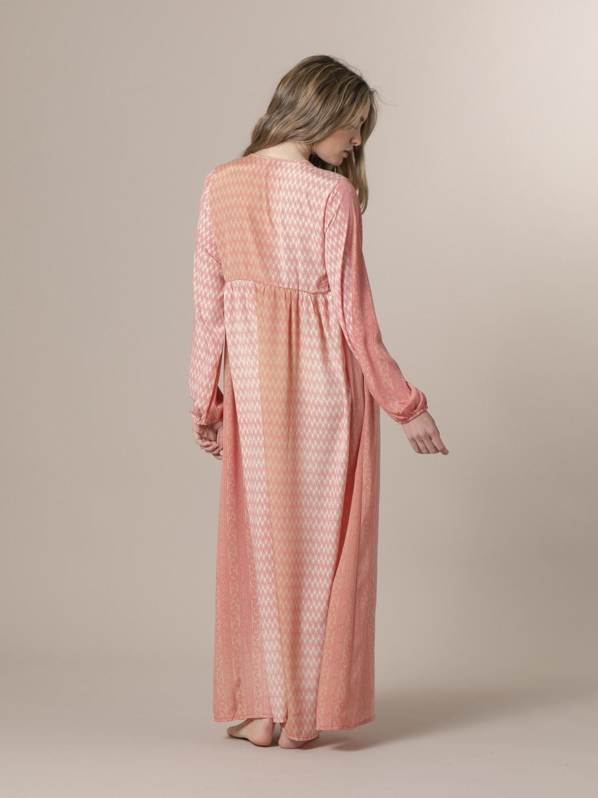 Woman Woman Long printed dress Pink