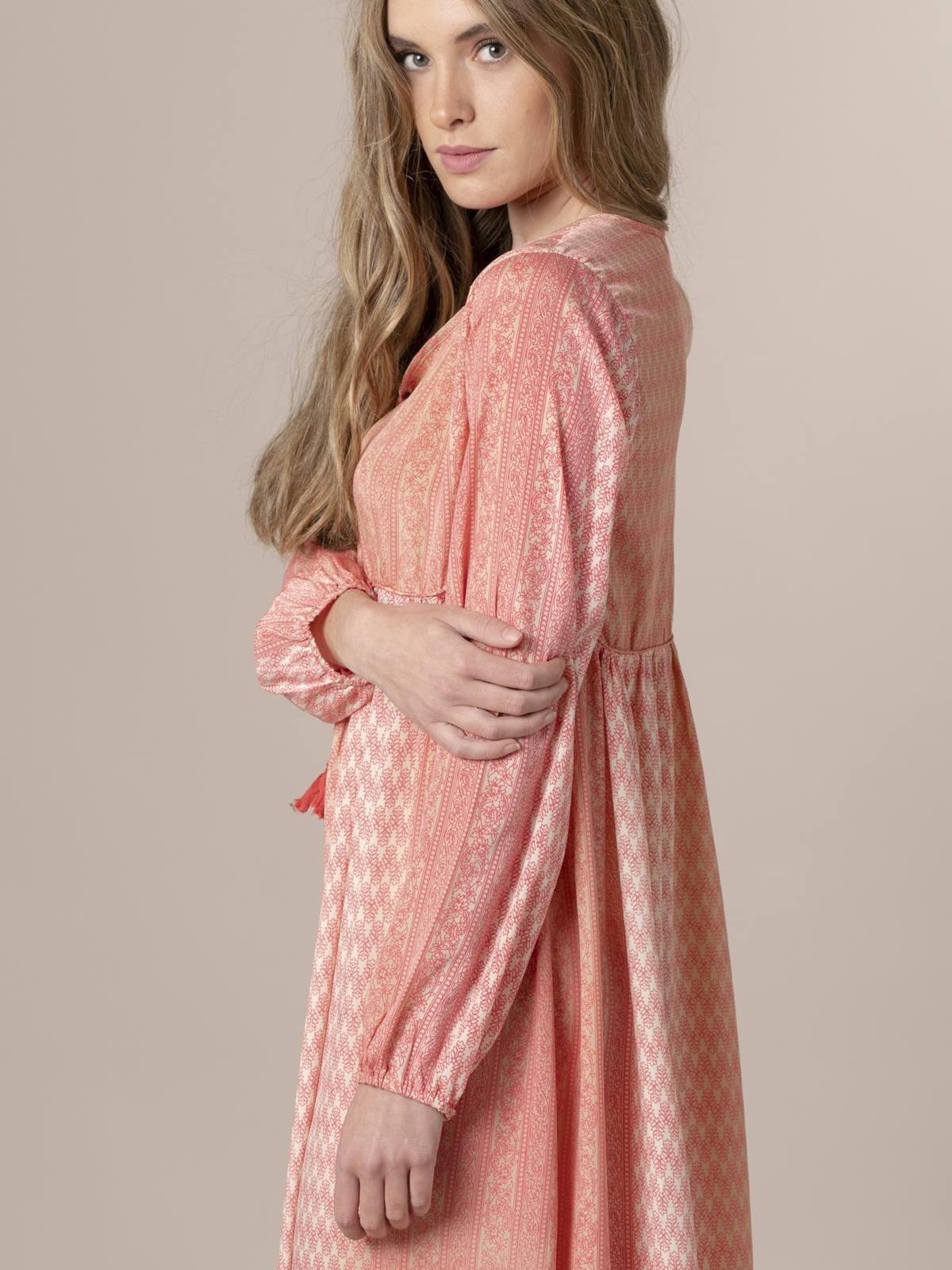 Vestido largo estampado Rosa