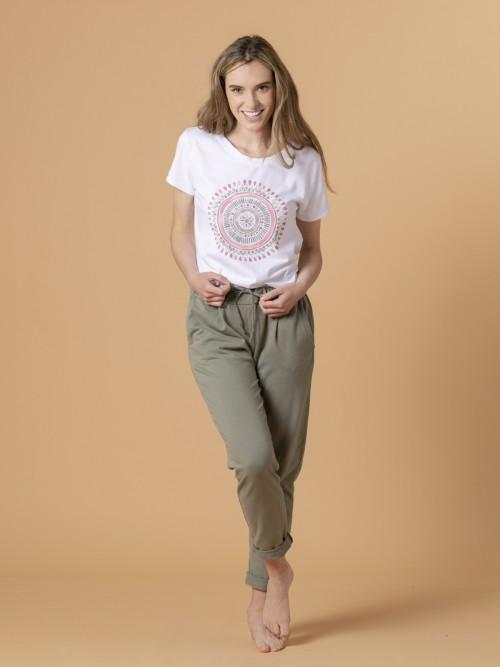 Woman Woman Plush sport trousers Khaki