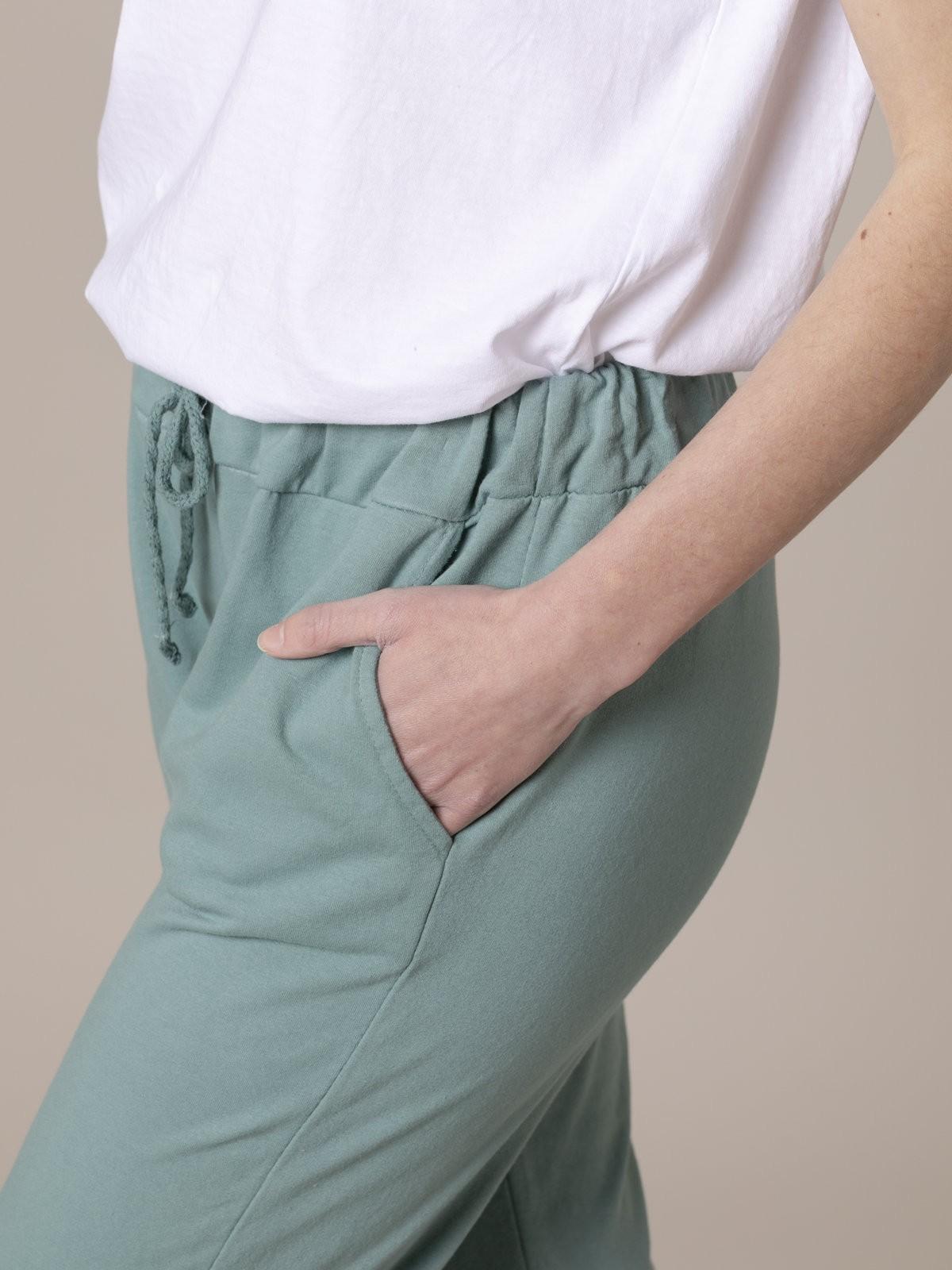 Pantalón mujer sport felpa Verde