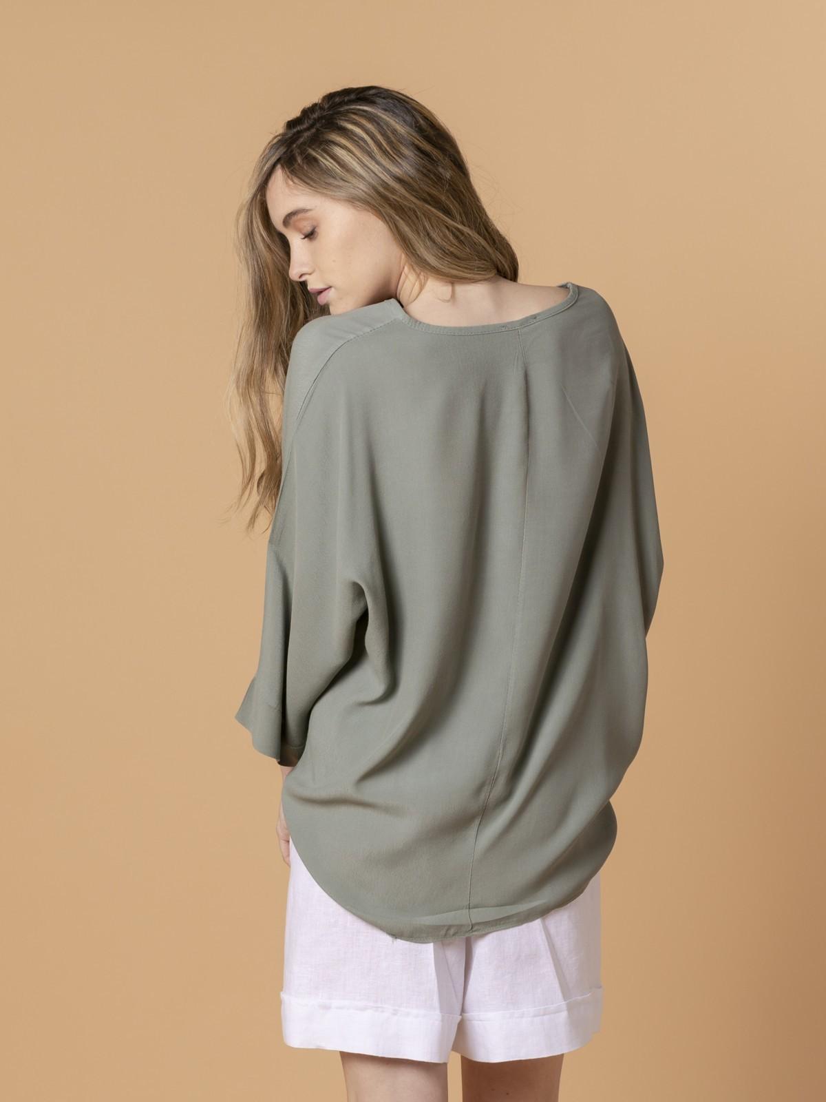 Woman Woman Long sleeve oversize blouse Khaki