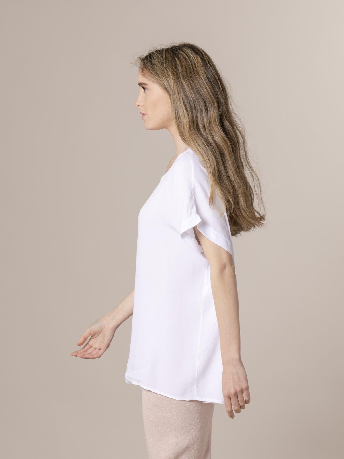 Blusa de mujer manga corta Blanco