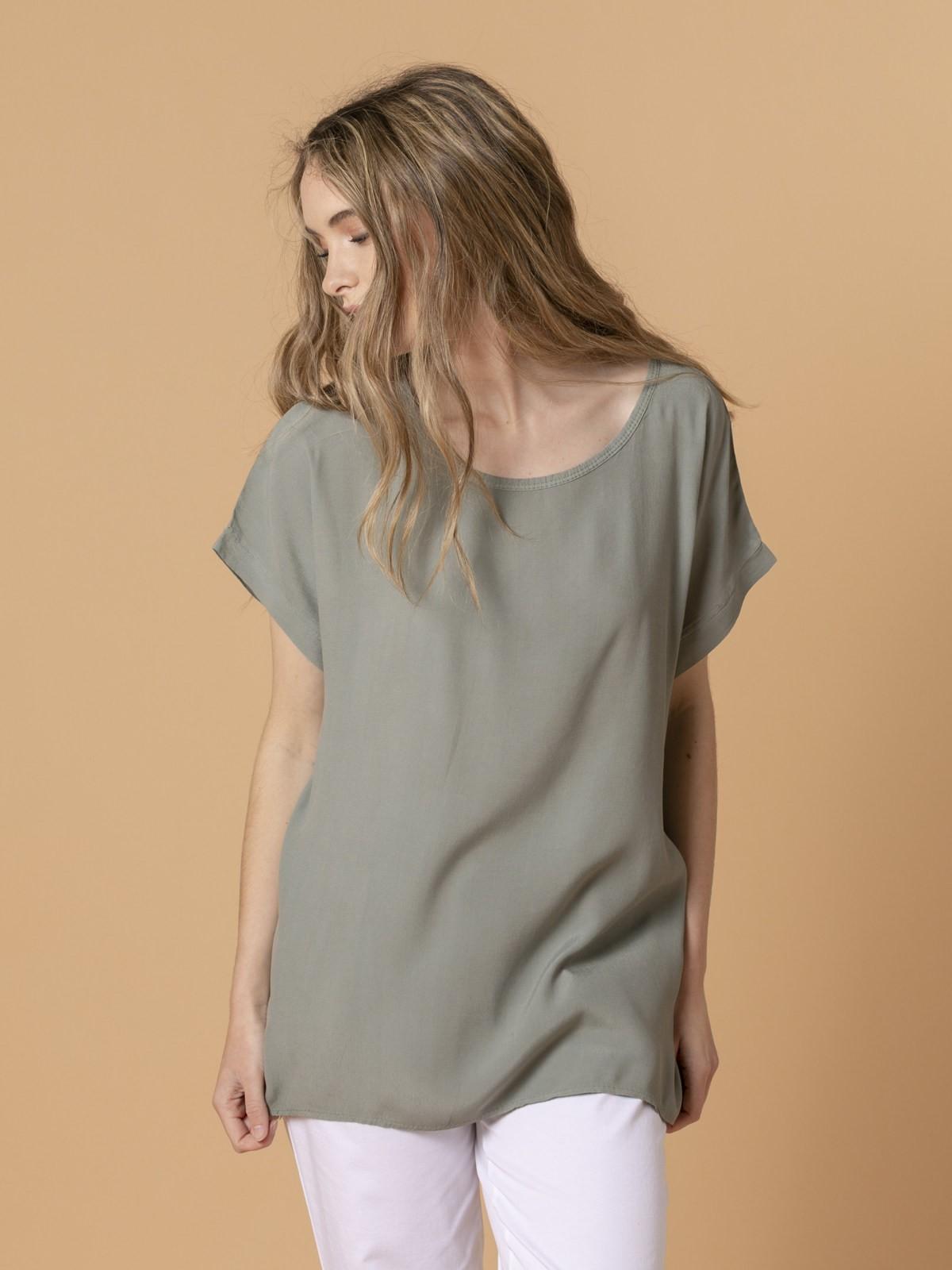 Blusa de mujer manga corta Caqui