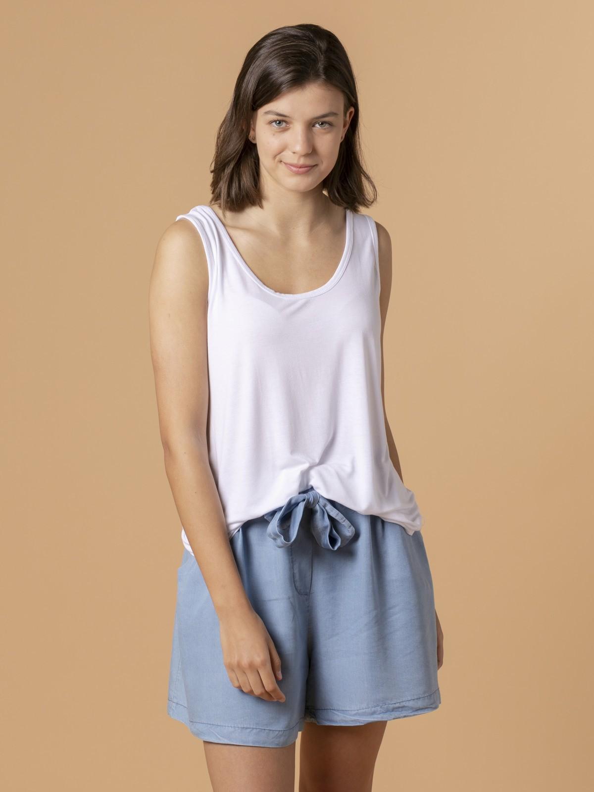 Woman Woman Wide-leg t-shirt White