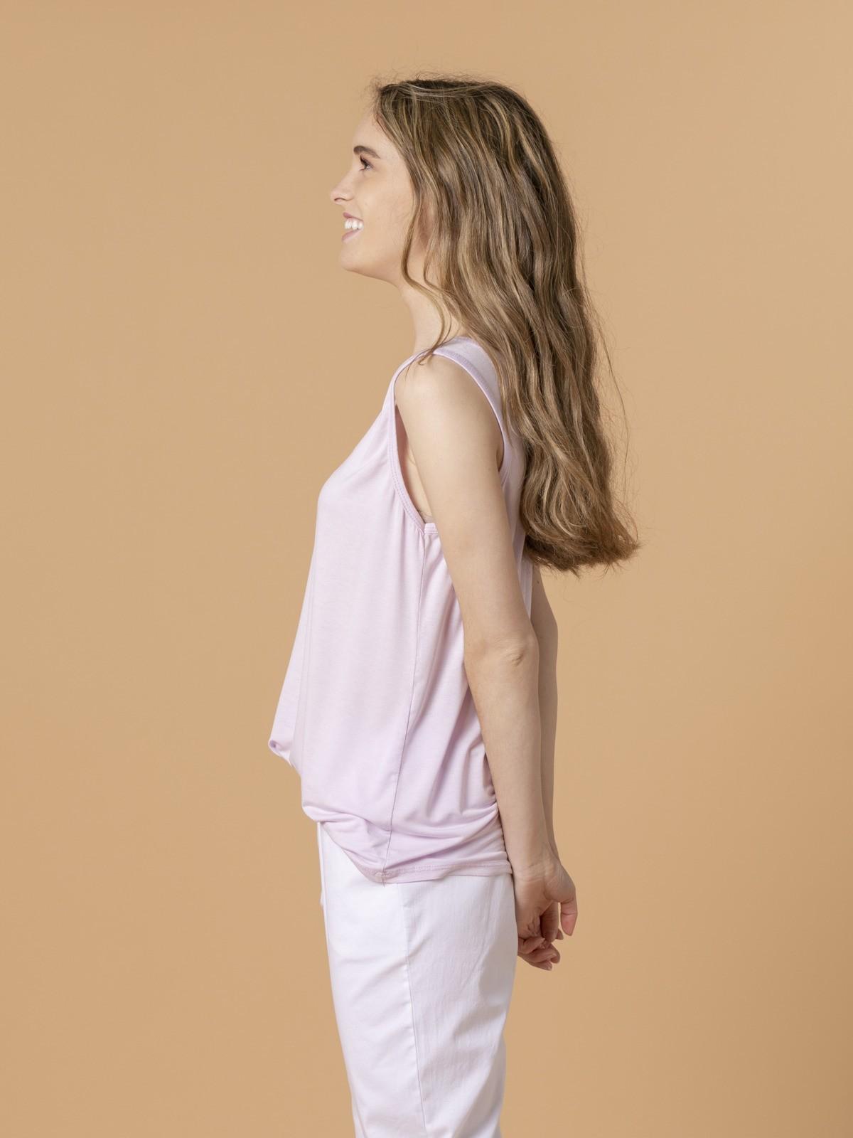 Camiseta mujer tirante ancho Lila