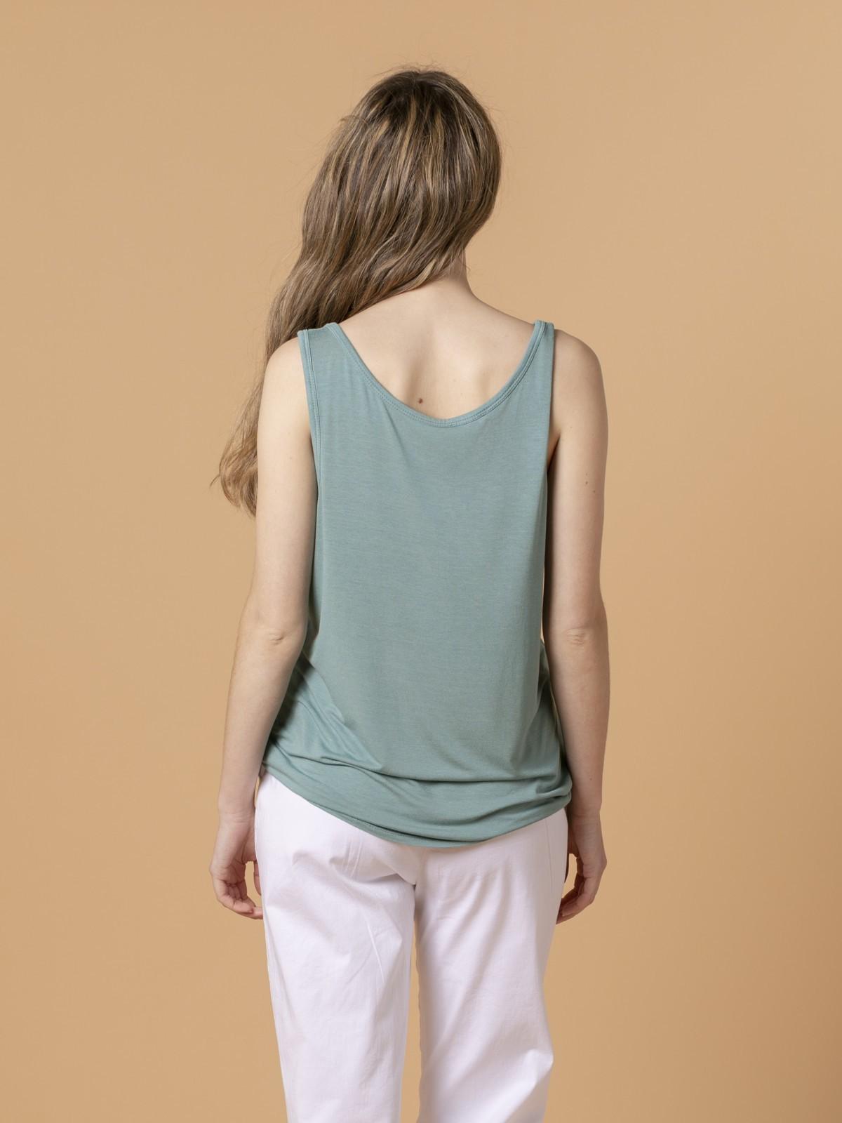 Camiseta mujer tirante ancho Verde