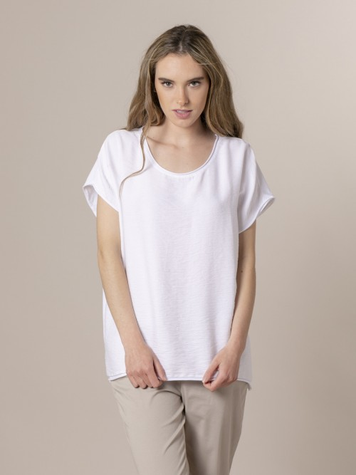 Woman Woman Oversize wrinkled T-shirt White