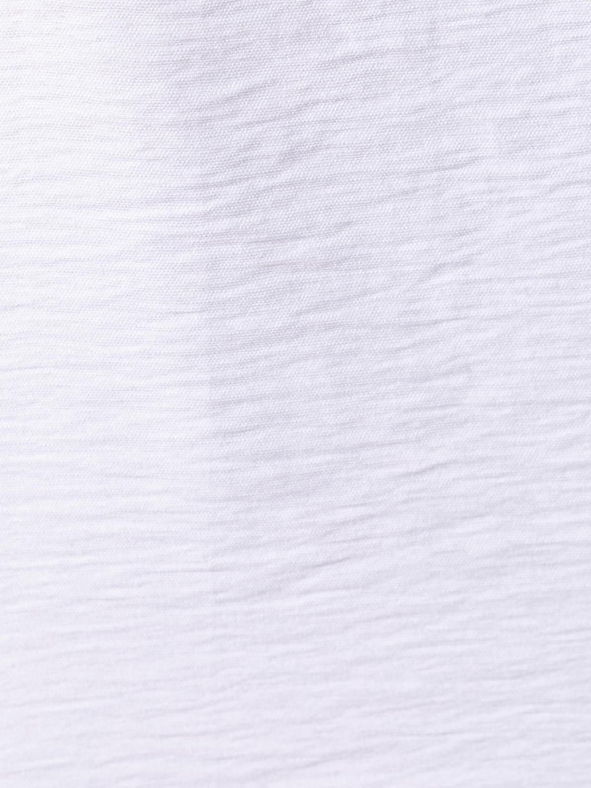 Camiseta mujer arrugada oversize Blanco