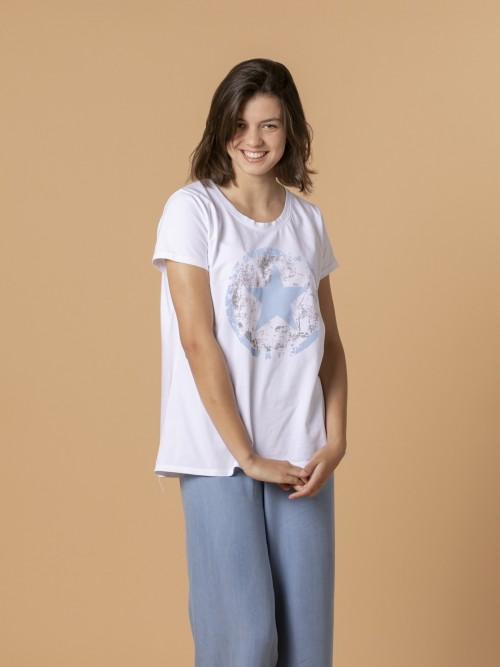 Woman Woman Converse star t-shirt Blue