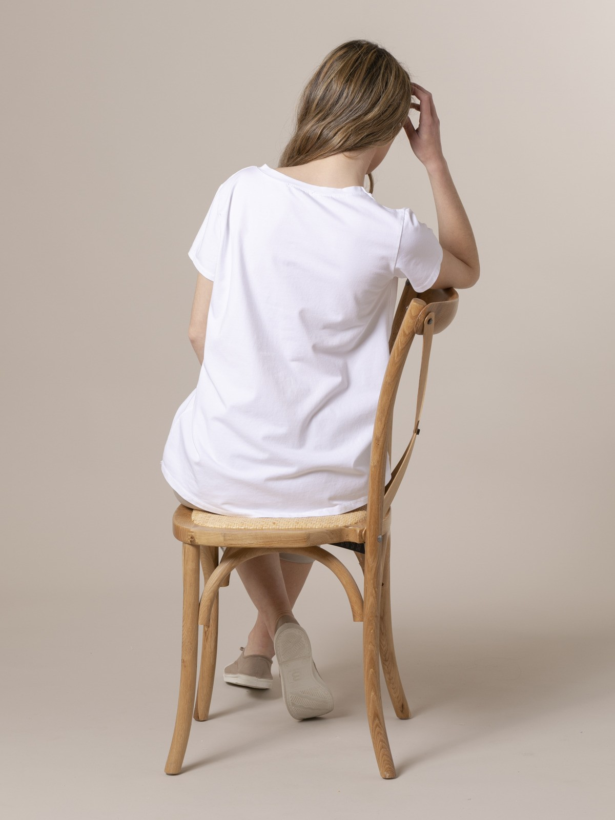 Camiseta mujer estampada digital Rosa