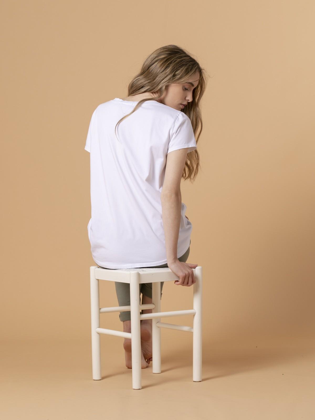 Camiseta mujer estampada digital circulo