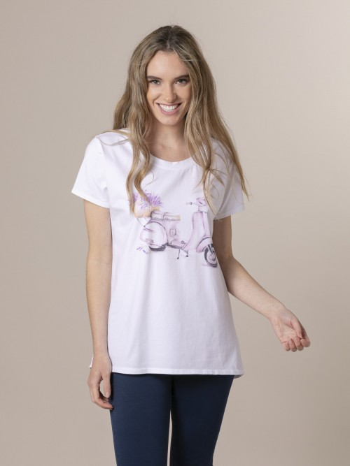 Woman Woman Digital printed t-shirt Lila