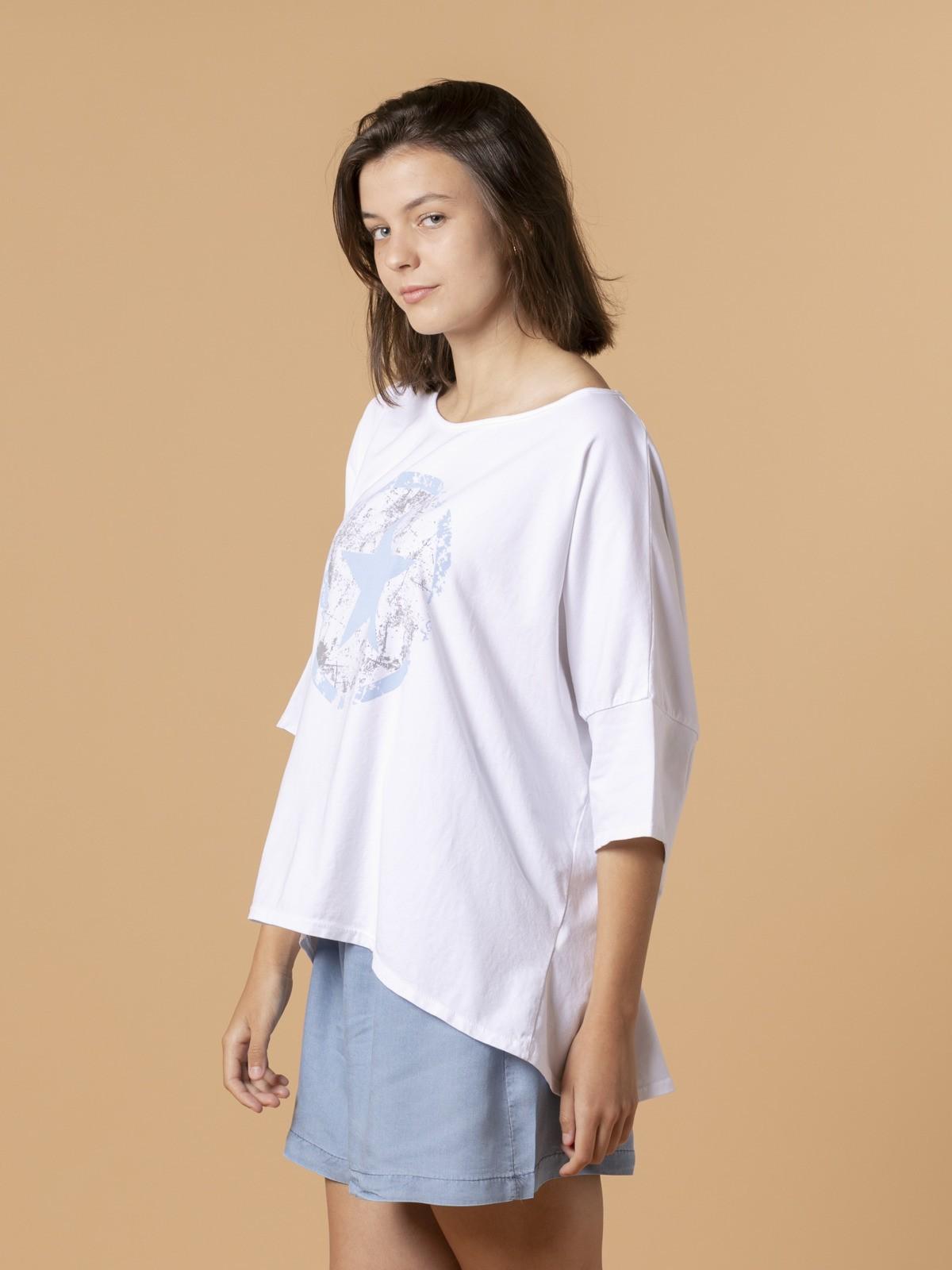 Camiseta mujer estrella Azul