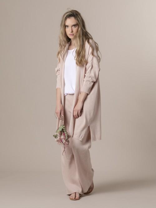Woman Woman Long knit jacket Pink