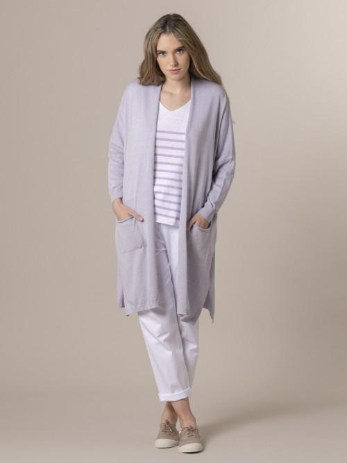 Woman Woman Long knit jacket Lila