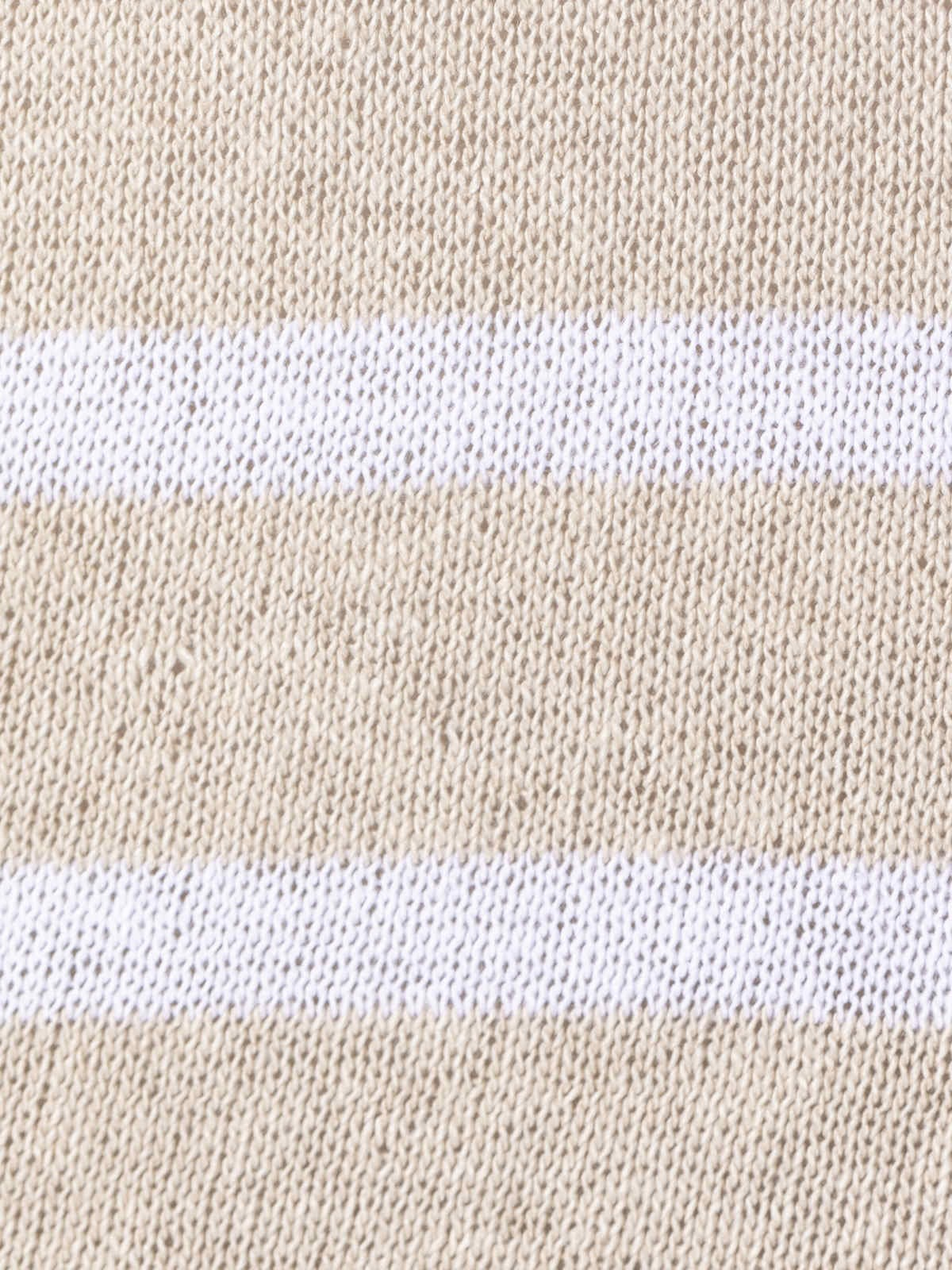 Jersey rayas mujer algodón Beige