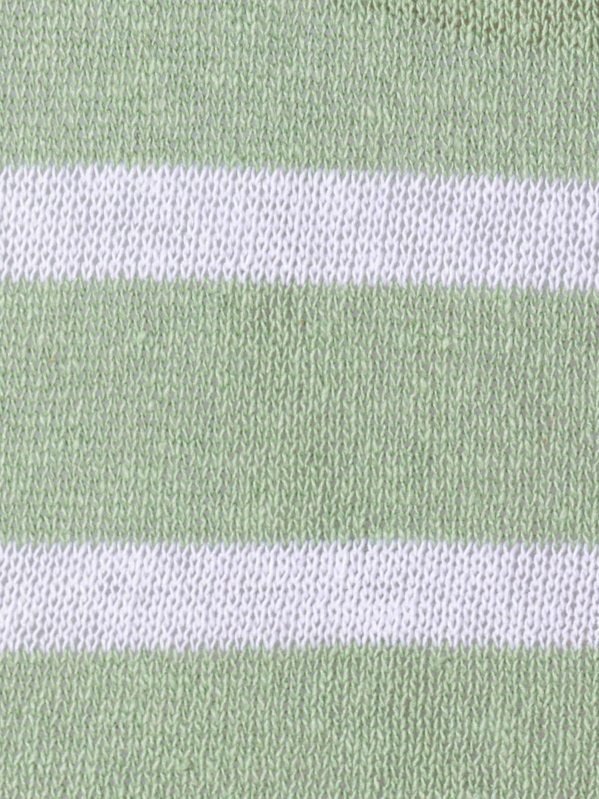 Woman Woman Striped cotton sweater Green