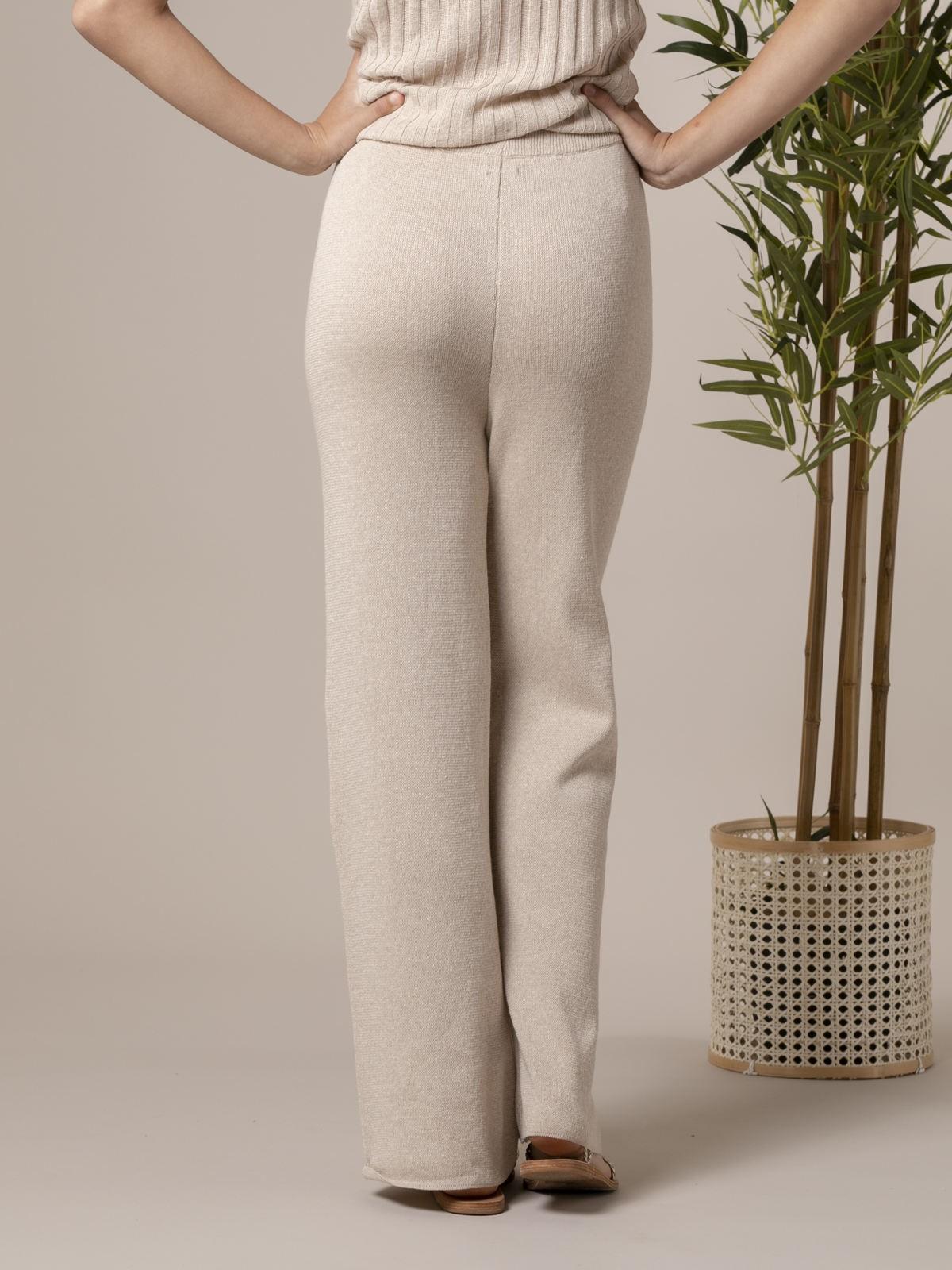 Woman Woman Cotton jersey trousers Beige