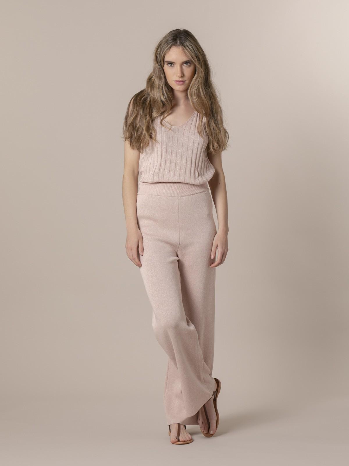 Woman Woman Cotton jersey trousers Pink