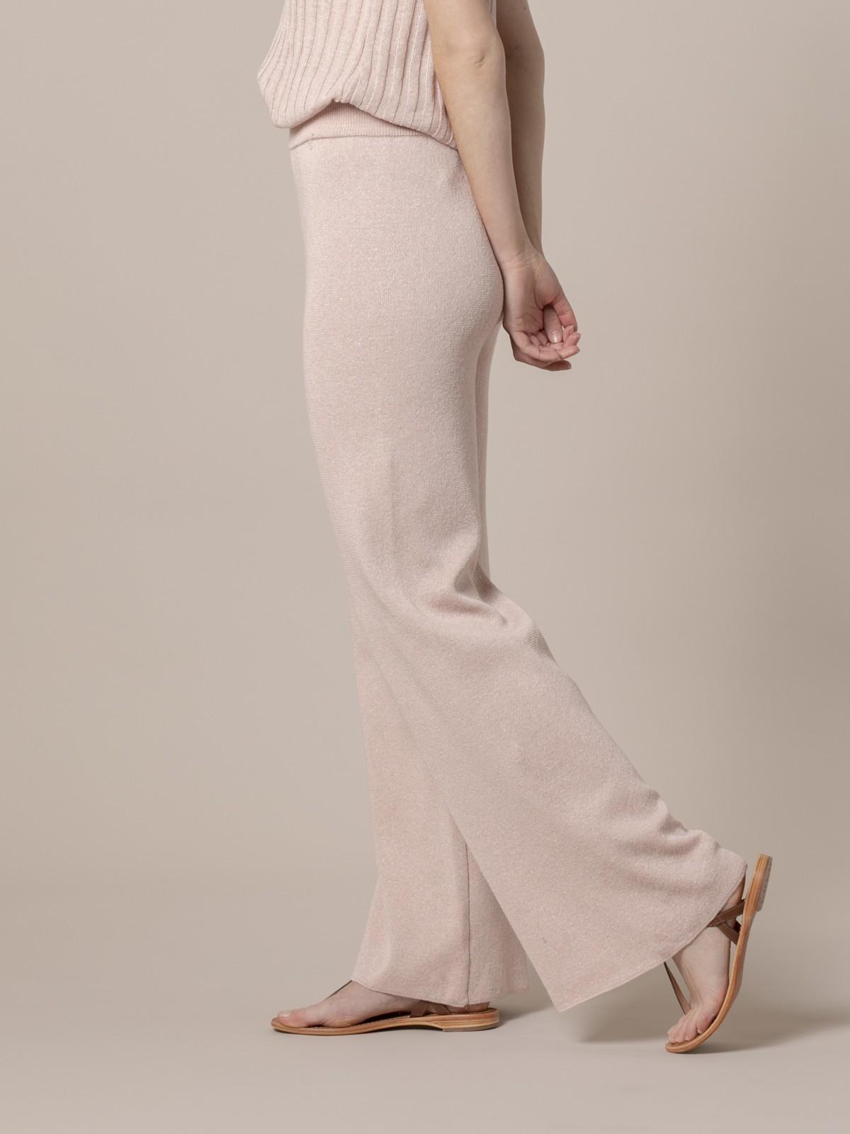 Pantalón mujer de punto algodón Rosa