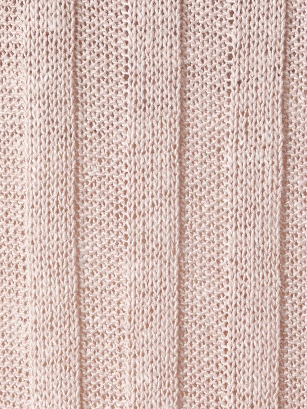 Woman Woman Cotton rib knit top Pink