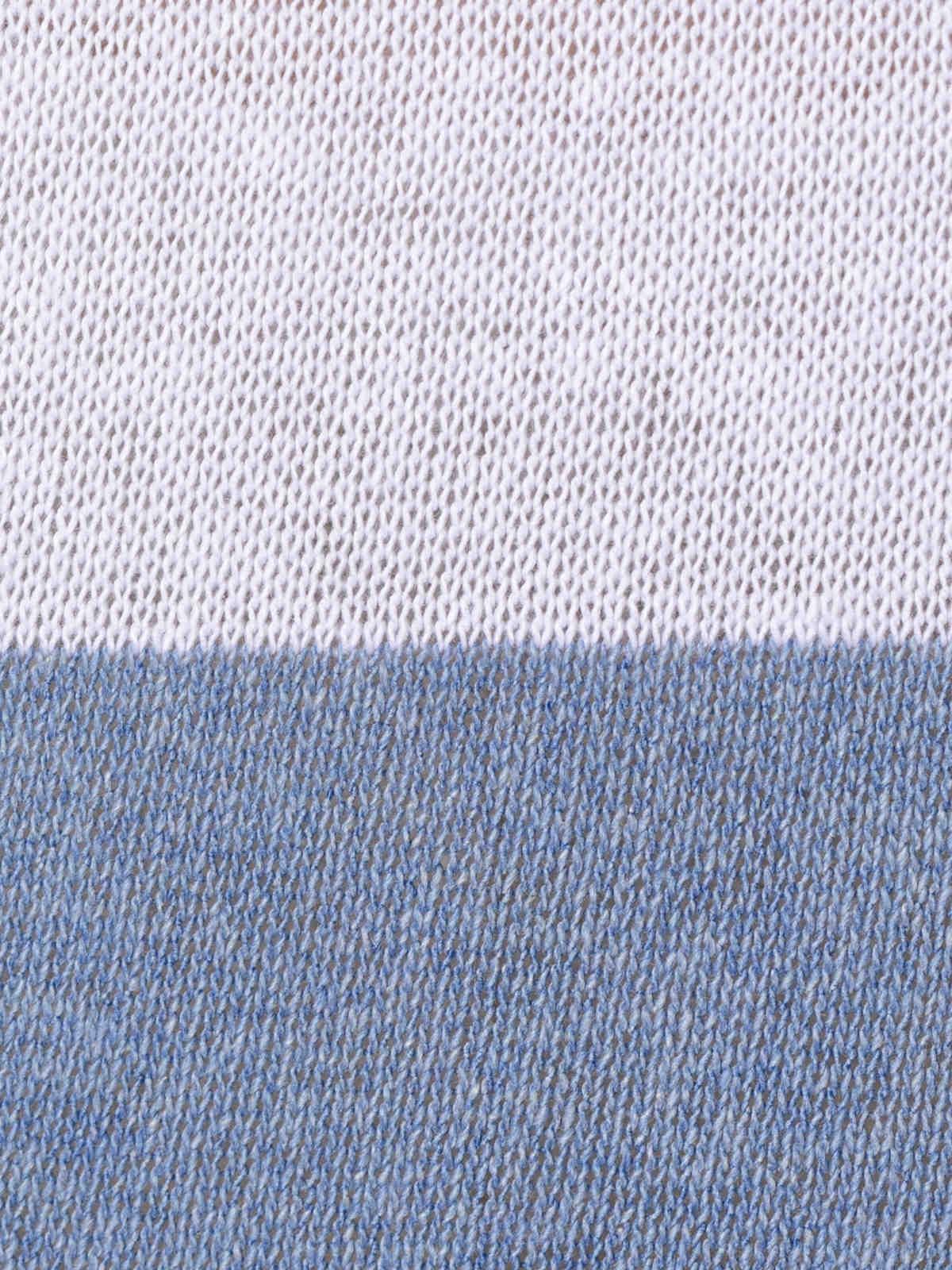 Jersey mujer de rayas y cuello pico Azul