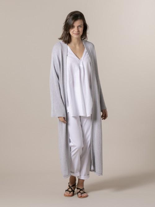 Woman Woman Cardigan coat Grey