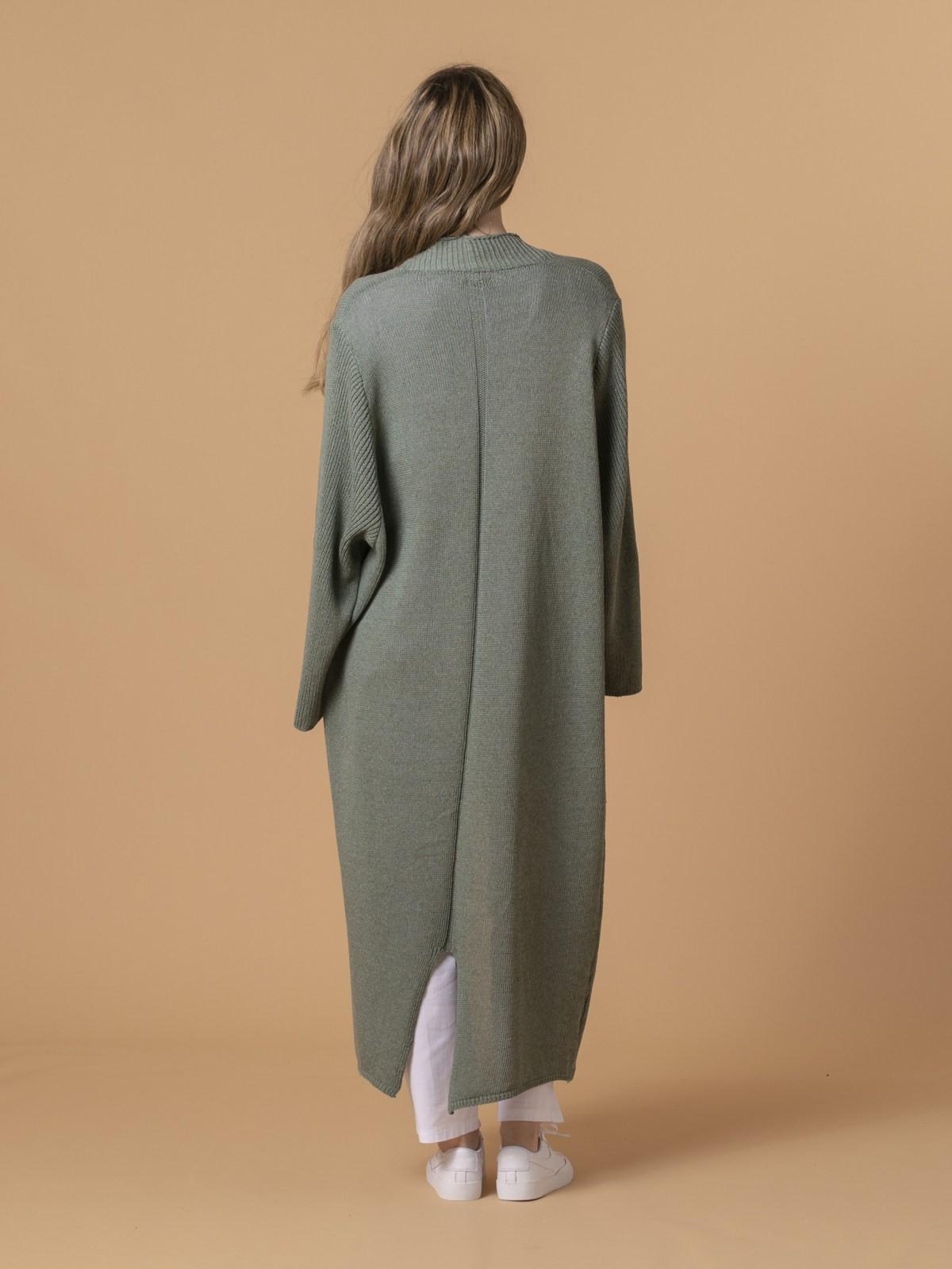 Chaqueta mujer abrigo de punto Caqui