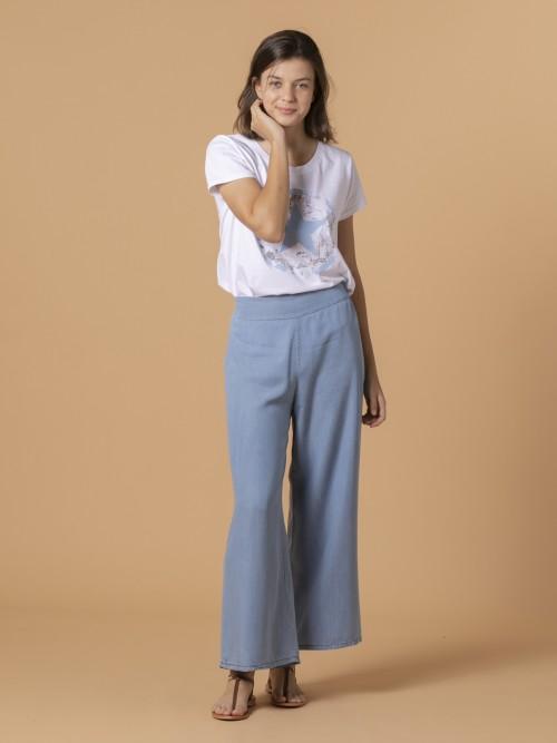 Woman Woman Tencel trousers Blue Jean