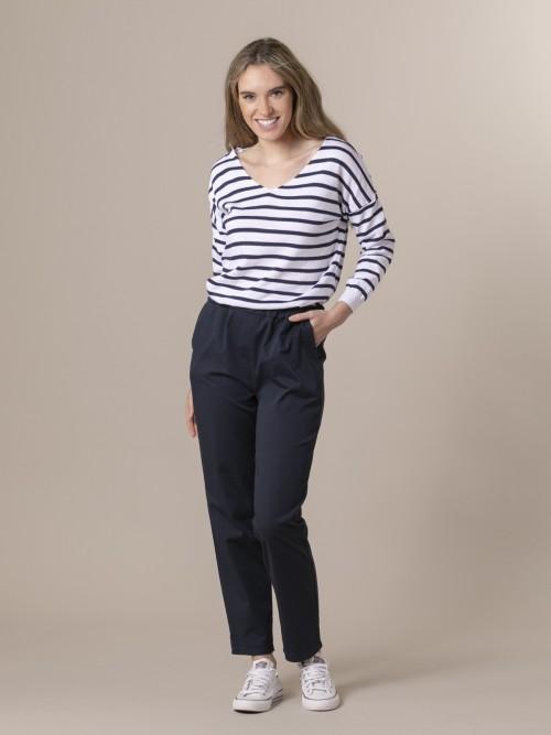 Woman Woman Light sport trousers Blue Navy