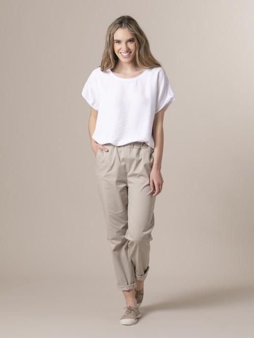 Woman Woman Light sport trousers Beige