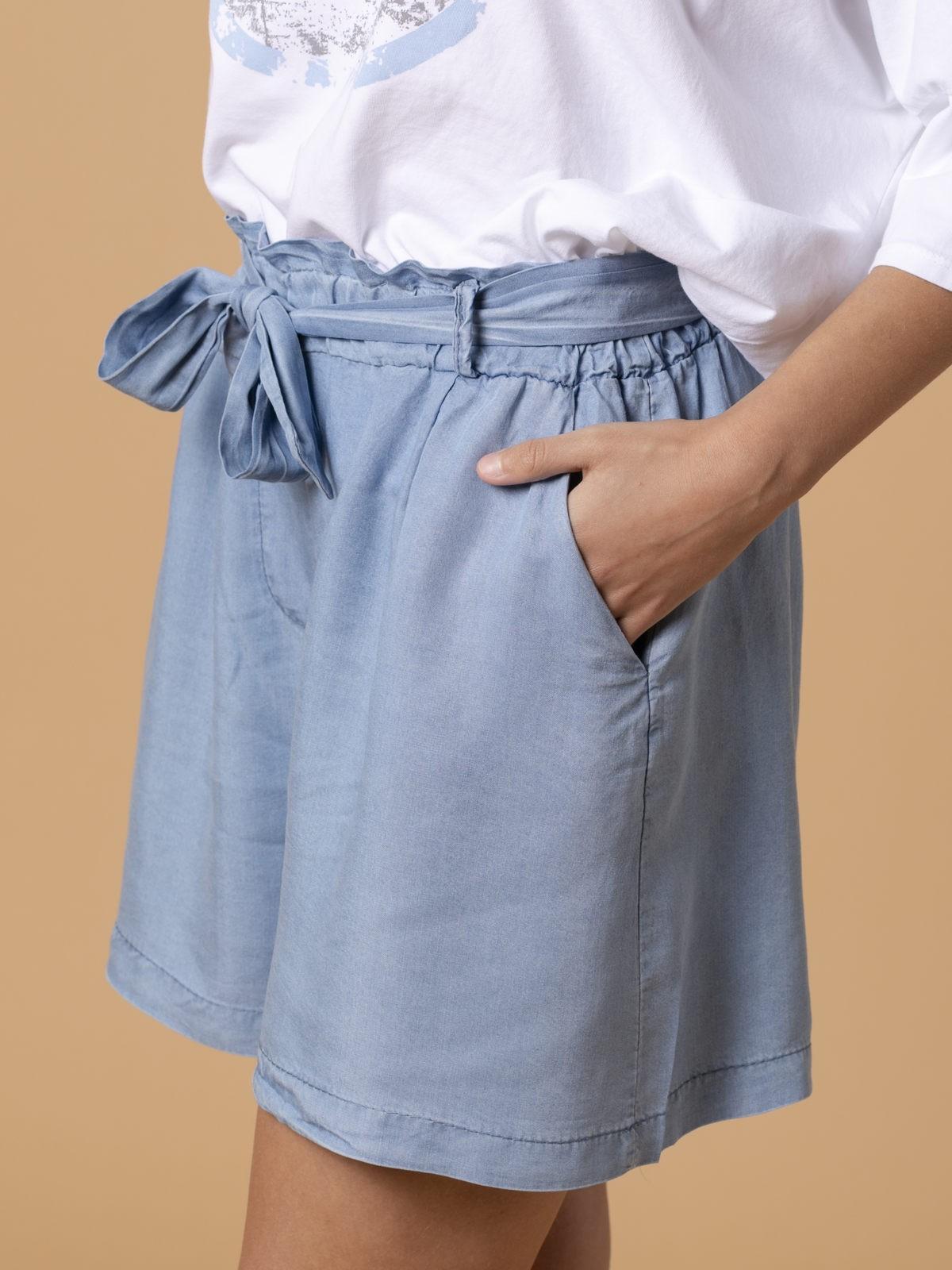 Short de mujer en tencel Azul Jean