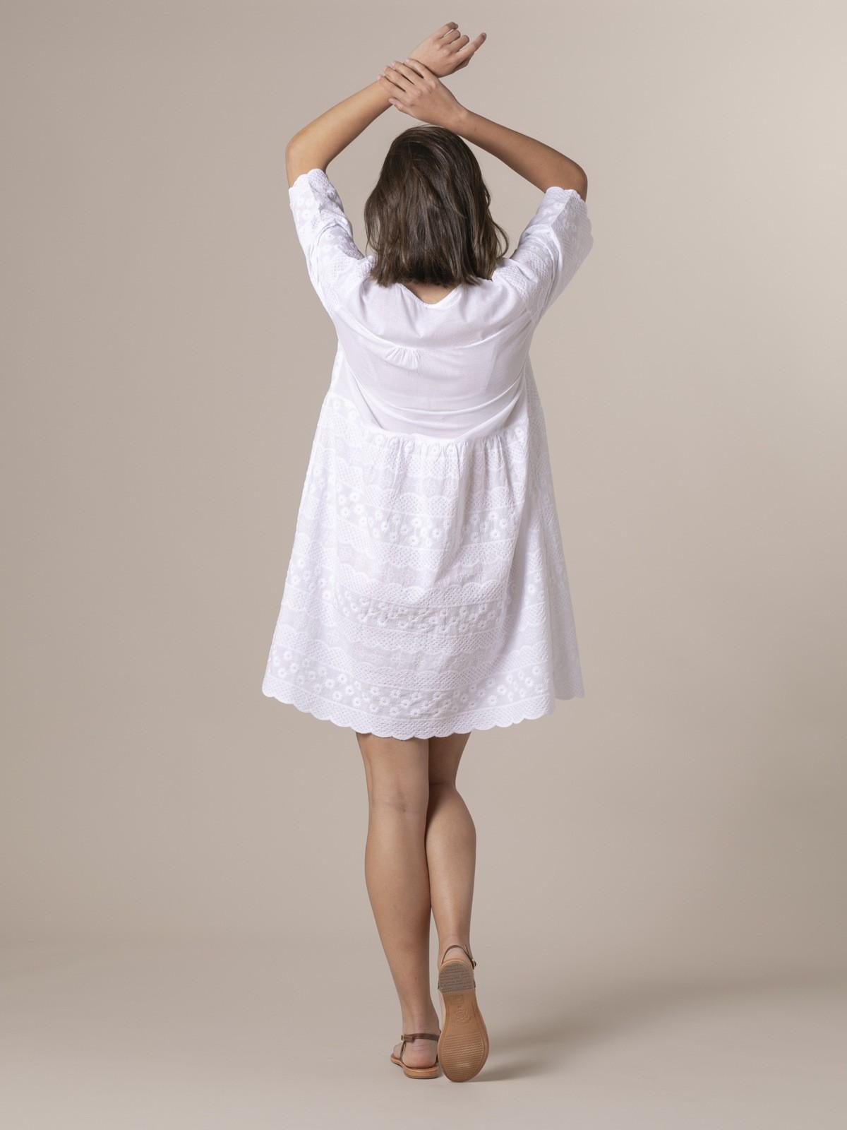 Woman Woman Cotton lace dress White