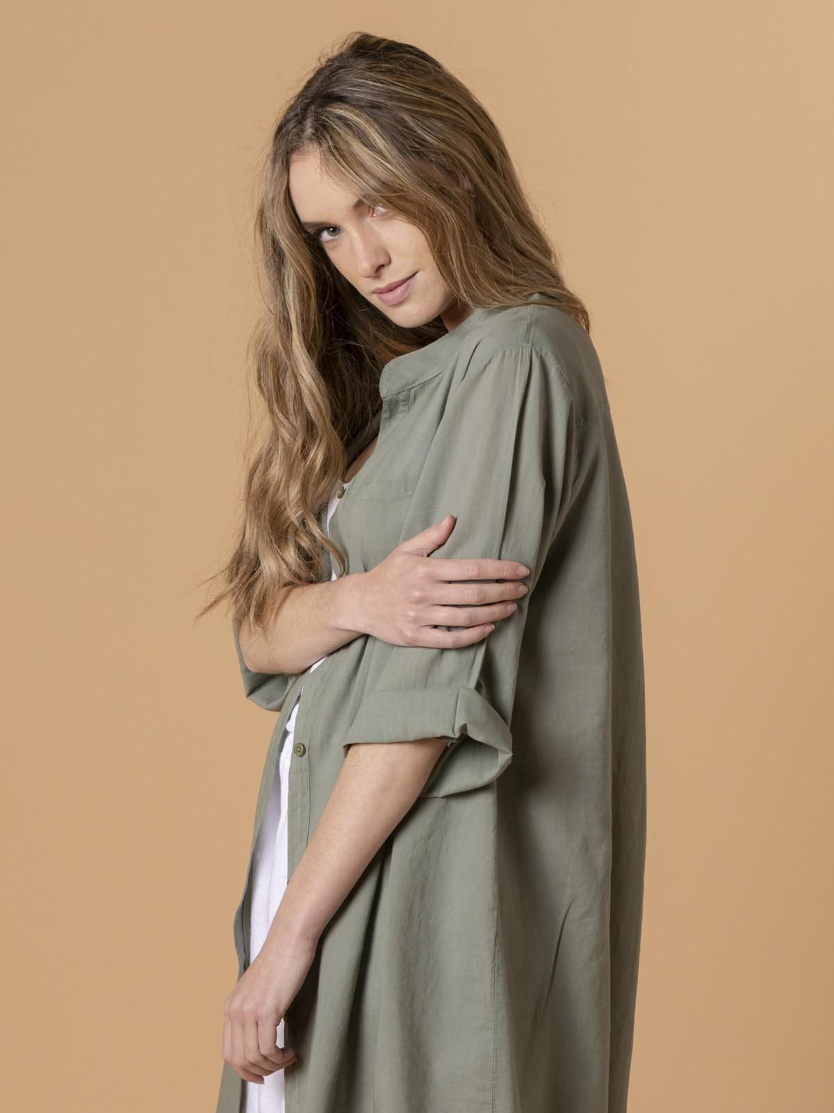 Woman Woman Plain blouse Khaki