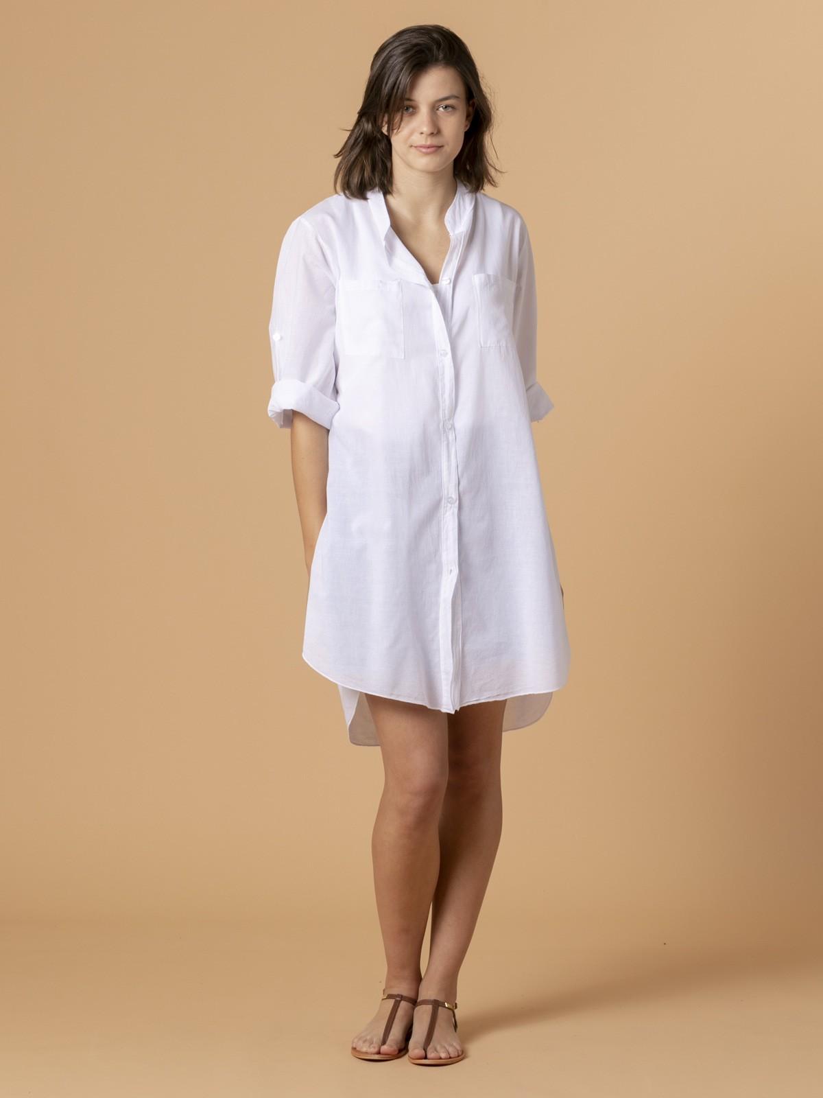 Woman Woman Plain blouse White