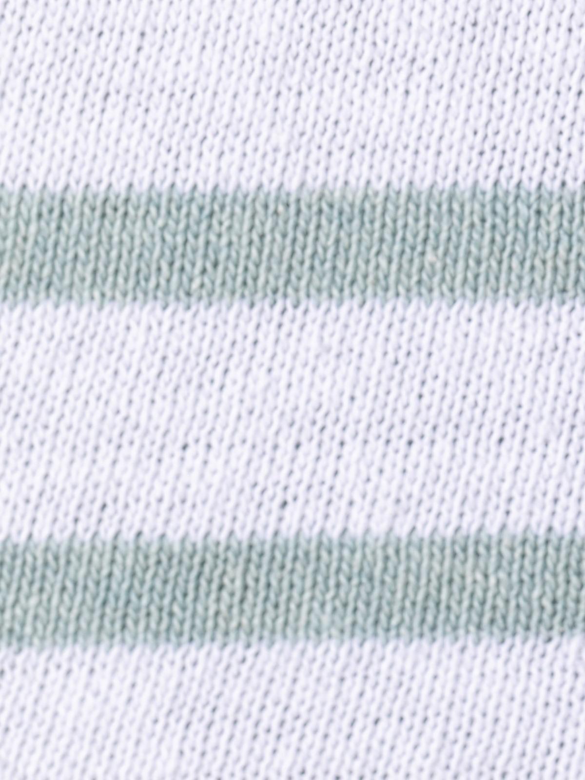 Jersey mujer punto fino rayas en bajo Verde claro